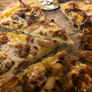 Caramelized Onion Pizza with Winter Squash Sauce