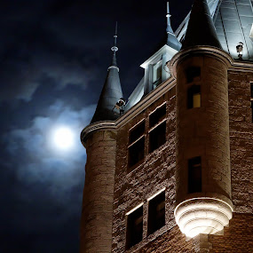Spooky Night  by Jean Photo-Vigneault - Buildings & Architecture Public & Historical