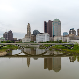 Columbus by Logan Knowles - City,  Street & Park  Skylines ( reflection, skyline, columbus, ohio, city )