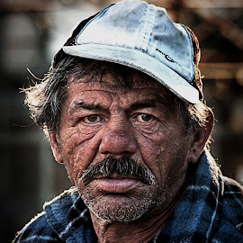 alone in the world by Ionel Covariuc - People Portraits of Men ( picture, homless, poor, man, portrait )