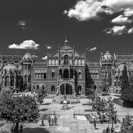hospital Sant Pau, Barcelona by Roberto Gonzalo Romero - Buildings & Architecture Public & Historical ( san pau, black and white, barcelona, hospital )