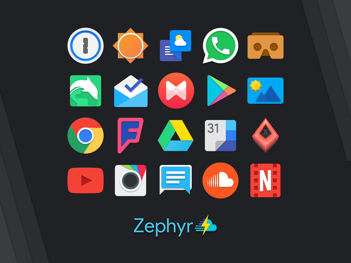Zephyr - Icon Pack Screenshot 8