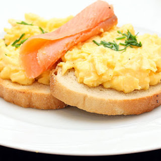 Scrambled Eggs, Salmon & Dill