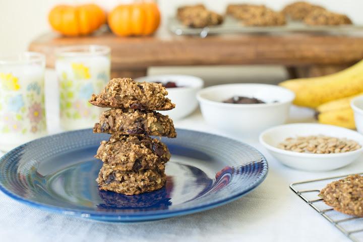 Roasted Banana Pumpkin Granola Cookies - Gluten Free