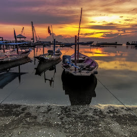 Silent Morning by Surya Forty-Six - Transportation Boats
