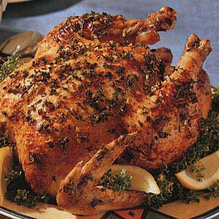 Roast Chicken with Lemon and Thyme Recipe | Yummly