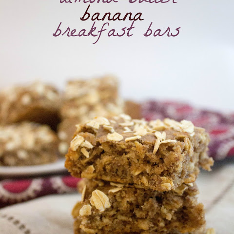 Almond Butter Banana Breakfast Bars