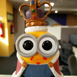 Minion King  by Vishal Jha - Artistic Objects Toys ( office, indoor, minion, yellow, cute )