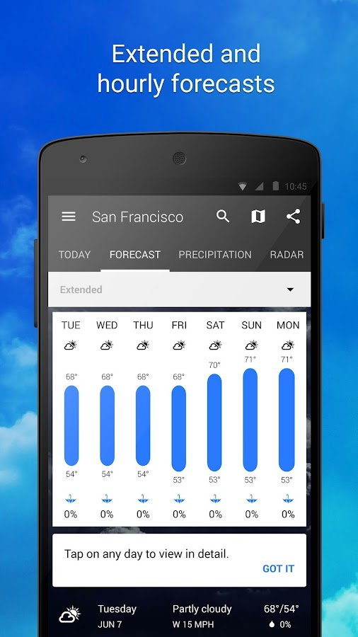 1Weather:Widget Forecast Radar Screenshot 3