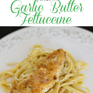 Panko Chicken with Garlic Butter Fettuccine