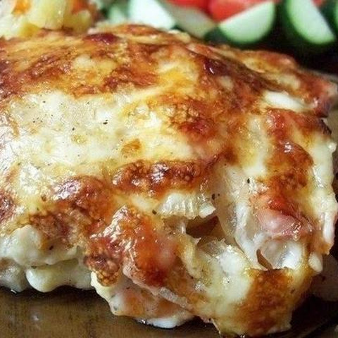 Potato Gratin With Ham In Cream