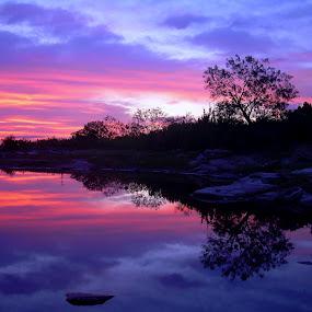 Sunrise Reflecrtion by Janice Pritchard - Landscapes Sunsets & Sunrises ( places, sunrise, landscape,  )