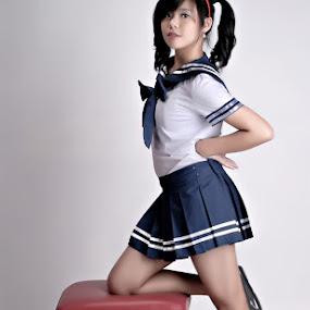 Japanese School Girl 2 by Silvano Rikiputra II - People High School Seniors