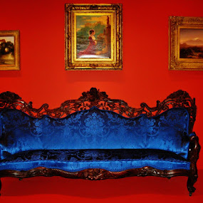a blue couch by Svetlana Essig - Artistic Objects Furniture ( sofa, interior, couch, blue, furniture )