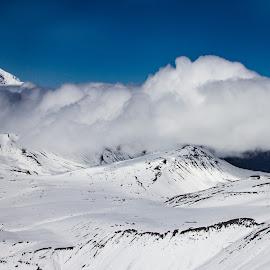 Untitled Alaska by Kelly Maize - Landscapes Cloud Formations ( mountains, snow, alaska, mountain range, clouds, landscape )