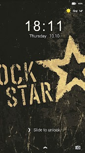Rock Music Locker theme - screenshot