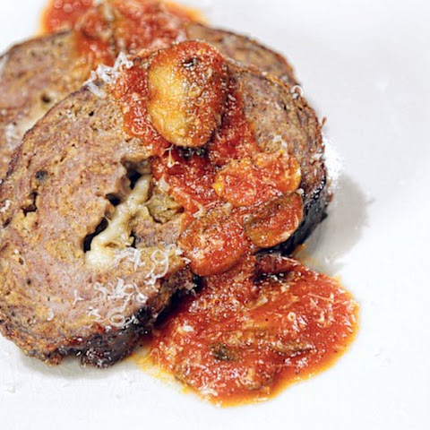 Meatloaf Stuffed with Caramelized Onions and Provolone Cheese