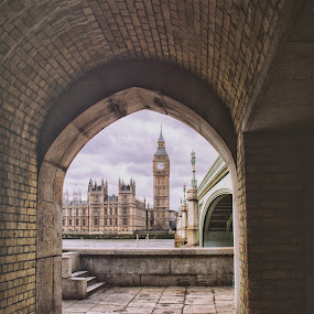 London Big Ben by Balazs Romsics - City,  Street & Park  Historic Districts ( london big ben sky )