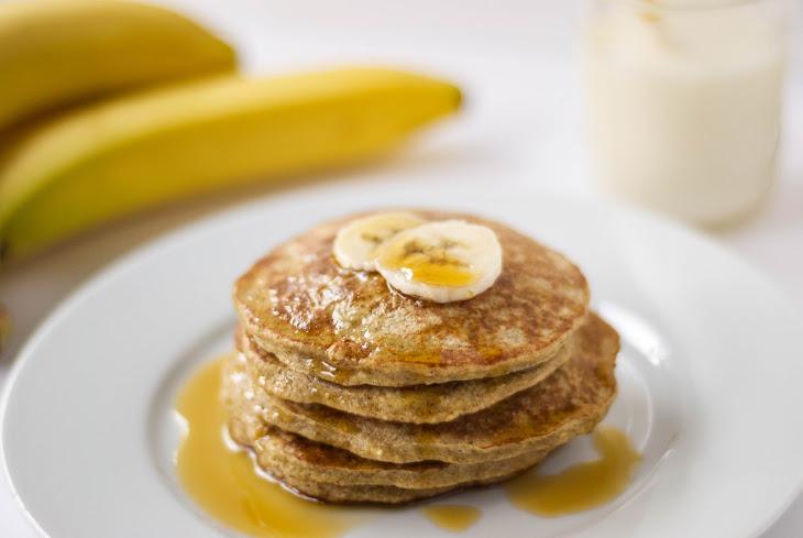 Banana Oatmeal Protein Pancakes {Gluten Free} Recipe | Yummly