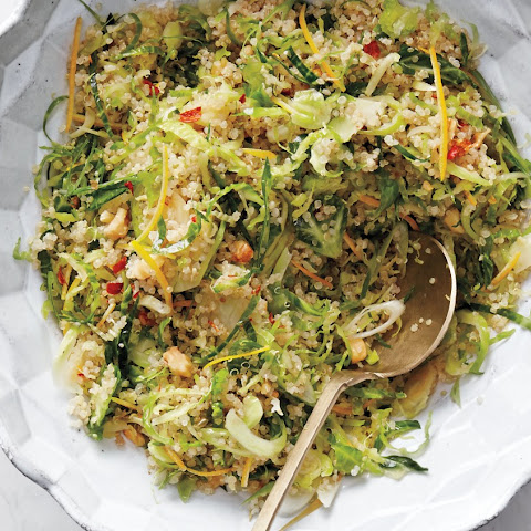 Shaved Brussels Sprout, Meyer Lemon, and Quinoa Salad