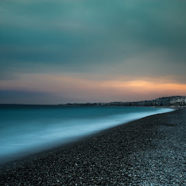La baie des anges by Arnaud Moreau - Landscapes Beaches ( mediterranean, south, nice, france, beach )