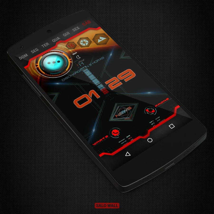 KLWP 2 Themes Futuristic Screenshot 4
