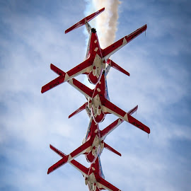 RCAF Snowbirds by Scott Thiel - Transportation Airplanes ( ct-114, airplane, rcaf, snowbirds, tutor, caf, canadair )