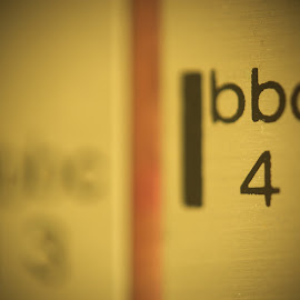 bbc4 by Phil Rosenberg - Artistic Objects Antiques ( macro, text, wood, numbers, aluminium, radio )