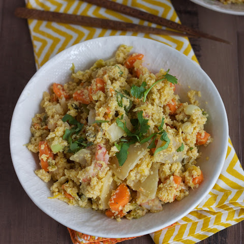 Paleo Kimchi and Shrimp Fried Cauliflower Rice