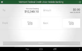 Screenshot of Vermont Fed CU Mobile Banking