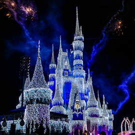 Cinderella's Castle at Christmas by Judy Rosanno - Public Holidays Christmas