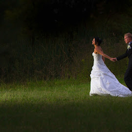 walking by Anco Pretorius - Wedding Bride & Groom ( walking, wedding, marriage, bride, groom )