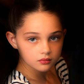 Pretty Young Lady by Cheryl Korotky - Babies & Children Child Portraits