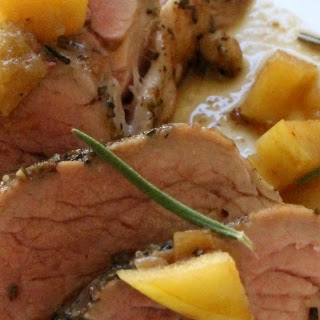 Sous Vide Maple-Rosemary Pork Tenderloin with Apples