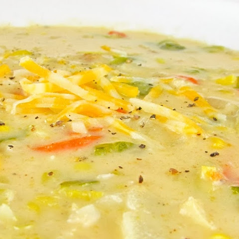 Easy Cheesy Vegetable Soup with Bacon