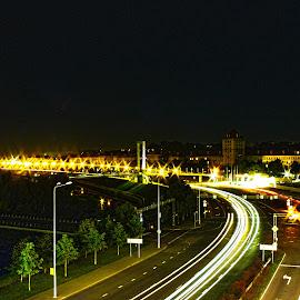 street   by Milda Snaige - City,  Street & Park  Street Scenes ( street, night )