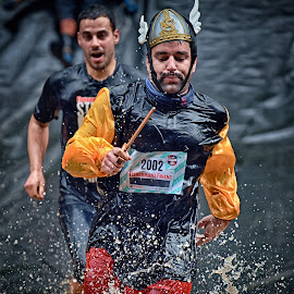 Asterix, The Gaul ! by Marco Bertamé - Sports & Fitness Other Sports ( water, splatter, splash, waterdrop, differdange, 2015, asterix, 2002, number, helmet, running, luxembourg, mud, strong, dirty, strongmanrun, man )