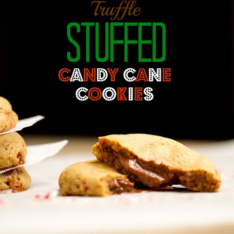 Truffle Stuffed Candy Cane Cookies