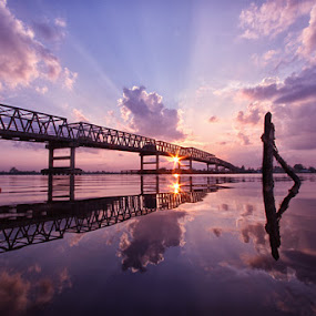 Sundown at Pulau Telo Bridge by Andi Adinata - Landscapes Sunsets & Sunrises