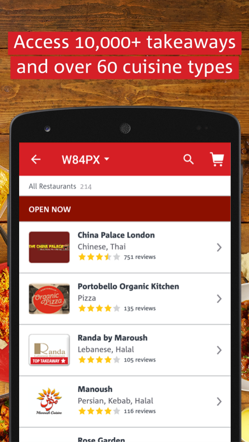 hungryhouse Takeaway Delivery Screenshot 1