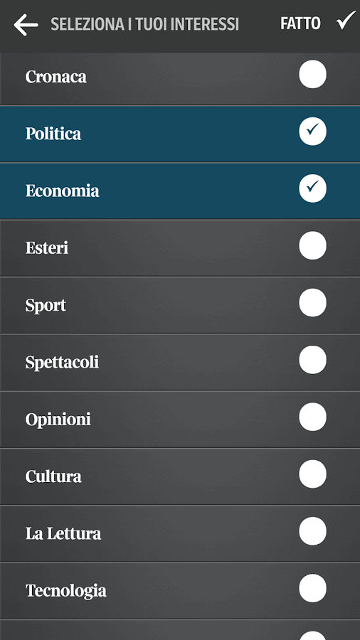 Corriere UP Screenshot 3
