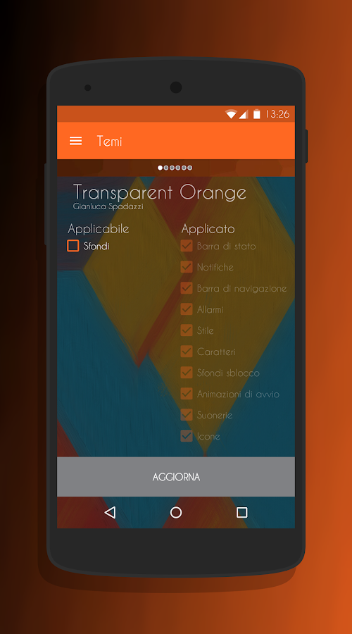 Transparent Orange -CM13 Theme Screenshot 7