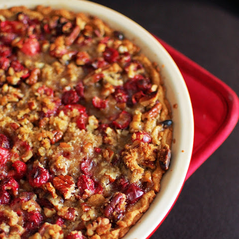 Pumpkin, Cranberry, and Pecan Pie