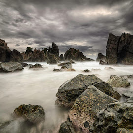 Stones formations by Andrika Wijayanti - Landscapes Waterscapes ( coral, waterscape, sea, beach, seascape, crag, stones, coast )