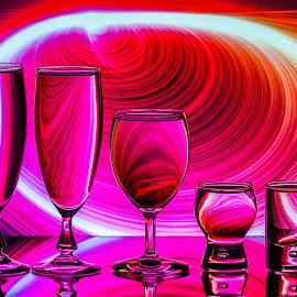Eddy Maerten by Eddy Maerten - Artistic Objects Glass ( red, tornado )