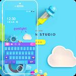 Colorful cartoon keyboard tema Icon