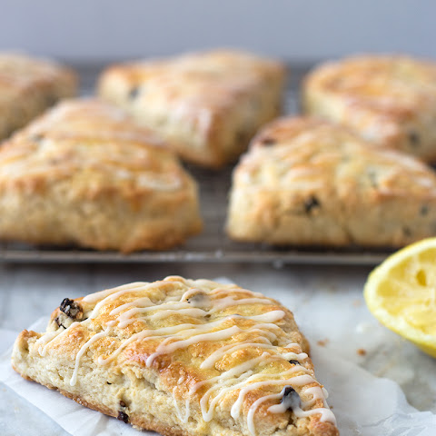 Glazed Lemon Currant Scones
