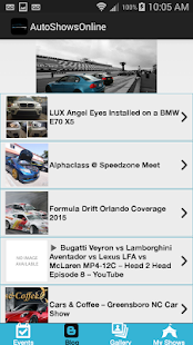AutoShowsOnline - screenshot