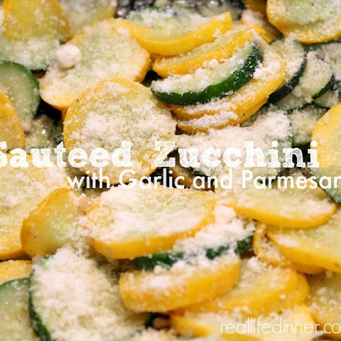 Sauteed Zucchini and Yellow Squash with Garlic and Parmesan