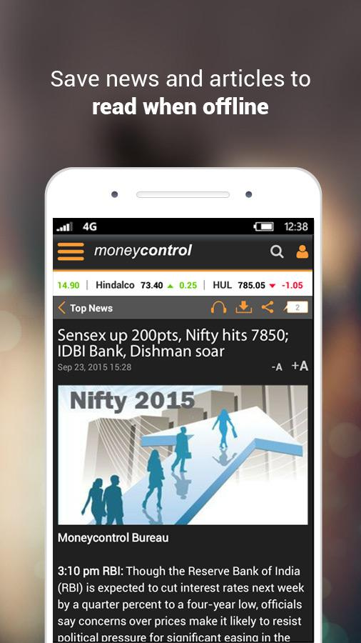 Moneycontrol Markets on Mobile Screenshot 7
